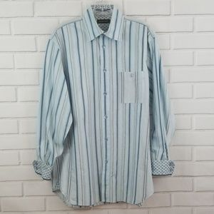 Island Soft Striped Cotton Silk Button Down Shirt
